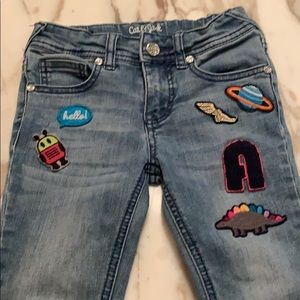 Cat & Jack girls denim with patches size 5